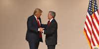 Donald Trump and Robert Jeffress in Iowa on Saturday (YouTube)