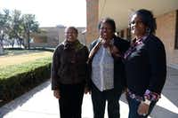 R.L Turner High School alumnae (from left) Dorothy Graves, Annie Spears Edwards and Nancy Williams stand outside the school recently in Carrollton. The women attended the high school after it was integrated in 1963.ROSE BACA