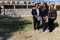 R.L Turner High School alumnae (from left) Annie Spears Edwards, Nancy Williams and Dorothy Graves stand outside the school on Feb. 12, 2014 in Carrollton. The women attended the school the year it was integrated in 1963. (Rose Baca/Neighborsgo Staff Photographer)Rose Baca