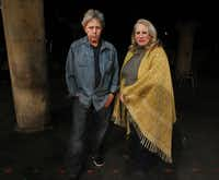 Playwright Len Jenkin and Undermain Theatre artistic director, Katherine Owens, are working together on the theatre's premiere of Abraham Zobell's Home Movie: Final Reel in Dallas. The show opens at City Performance Hall in January. (Mona Reeder/The Dallas Morning News)