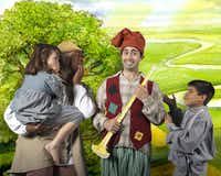 Shown here, left to right: Ruby Long, Maurice V. Johnson, Brian Hathaway and Jacob Segoviano appear in 'The Pied Piper's Magic,' presented by Dallas Children's Theater