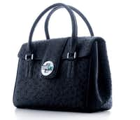 """the Tiffany Fall 2011 collection Tiffany """"Manhattan"""" satchel, in navy ostrich"""