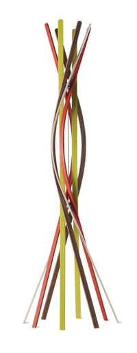 Twist Coatrack in beech by Christoph Burtscher and Patrizia Bertolini, $550, Design Within Reach, 214-521-0100, dwr.com