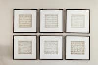 Among the personal touches showcased in Sarah Harmeyer's home are sepia photocopies of letters from the special people in her life, including her grandmother and mother.