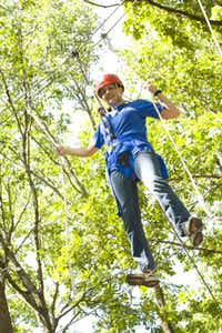Ropes Course Adventure Day at the Heard Natural Science Museum & Wildlife Sanctuary lets visitors try a ropes course program and zip line.