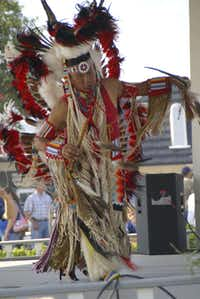 Santa Fe Days on the Square features American Indian dancers.