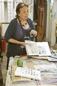 Annie Sloan, British creator of Annie Sloan Chalk Paints and other easy-to-use products for refurbishing wood furniture and floors.