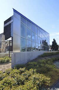 The new and innovative 22,000 square-foot new Sub-Zero and Wolf building commands attention on Lemmon Avenue near Oaklawn Avenue.