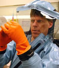 Tom Geisbert  of Galveston National Laboratory has developed a vaccine that saved monkeys infected with Ebola. His vaccine has not been tested in humans yet; it can cost half a billion dollars to take a vaccine from lab to clinic.University of Texas Medical Branch - Galveston National Laboratory