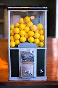 A hint of nostalgia is the vintage-look ball dispenser.Kristen Loken -  Kristen Loken