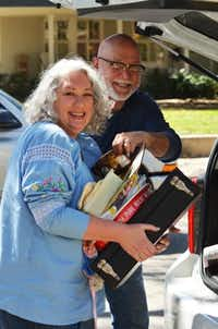 """Vintage treasure hunters Clay and Diane Godwin of Dallas pack their Toyota Scion to the limit for their online resale shop called """"Honey, Stop the Car! Vintage. They selectively scour garage sales, thrift stores and estate sales for anything that they know will strike a chord with fellow lovers of finds from the past.Clare Miers"""