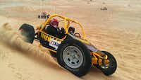 Sun Buggy offers off-road thrills in three-quarter-scale desert race cars in the Mojave Desert.Sun Buggy Fun Rentals