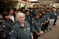 Tricia Johnson leads a group of more than 40 Conrad High School students who form Venturing Crew 9 who volunteer as translators between parents and teachers, speaking Nepali, Burmese, Arabic and Turkish, to name a few.ROSE BACA