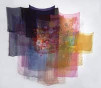With the Wind, from 1997, is composed of scarves and thread.