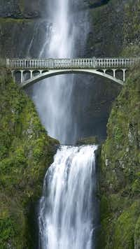 Multnomah Falls, one of Oregon's top attractions, flows throughout the year.USDA Forest Service  - USDA Forest Service