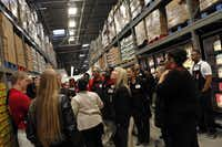 New employees got a  tour of the gargantuan store that opens today in McKinney.