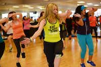 Tammy Elliott leads a Zumba class at Texas Family Fitness on March 29 in Frisco. Elliott, a native of West, Texas, organized a Zumbathon, RISE UP, Dance for West, on April 12, with proceeds to benefit The First Baptist Church of West Disaster Relief FundRose Baca - neighborsgo staff photographer