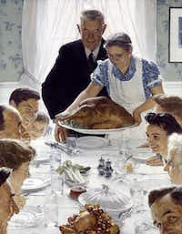 Norman Rockwell (1894-1978) Freedom from Want, 1942, oil on canvas Published in The Saturday Evening Post, March 6, 1943 Copyright: 1943 SEPS: Licensed by Curtis Publishing, Indianapolis, IN Norman Rockwell Museum