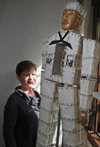 Antique dealer and collector Ann Williams is drawn to funky folk art such as the canvas and wood sailor as much as fine French antiques.KELLEY CHINN  -  Special Contributor