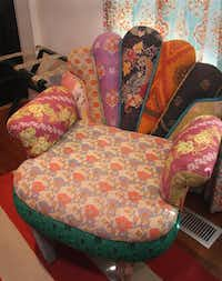 A chair upholstered in various textiles made in India sits in the guest bedroom.KELLEY CHINN  -  Special Contributor