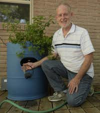 Bob Jordan designed a One Barrel Aquponic System as a simple way into the aquaponic method of growing plants.