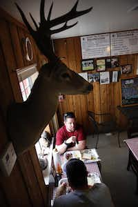 Diners eat lunch at Virgie's Bar-B-Que on Gessner Dr. in Houston, Texas Friday, June 27, 2014.Tom Fox  -  Staff Photographer