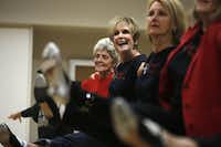 """You keep moving and having a positive attitude and enjoy what you do. Age is just a number to me,"" says tap dancer Carol Wertheimer, 71. Wertheimer (second from left) is shown here at a Dallas Tap Dazzlers practice."