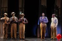 "T. Oliver Reid, Monroe Kent III, Cedric Neal, Everett Bradley, and Dulé Hill singing in ""Ain't It The Truth""Matthew Murphy  -  Matthew Murphy"