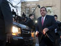 New Jersey Gov. Chris Christie left the mayor's office in Fort Lee on Thursday after apologizing to the mayor and residents for the deliberate George Washington Bridge lane closures that snarled traffic in an act of political vengeance.