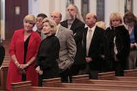 Fort Worth Mayor Betsy Price (left) and former U.S. Sen. Kay Bailey Hutchison were among those at the visitation for Van Cliburn in Fort Worth on Saturday.Ron T. Ennis - Telegram