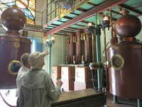 At the Asbach Visitors' Center in Rüdesheim, Germany, visitors are shown an example of the copper stills used to produce the award-winning brandy.Susan Farlow  -  Special Contributor