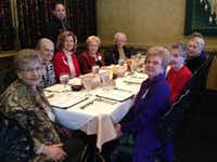 Las Colinas Women's Association members enjoy a holiday lunch at Via Real Restaurant in Irving.Staff photo by DEBORAH FLECK