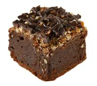 Third place in the Decadent category: Brownies with Bacon, Bourbon, Pecans and Optional Heat, by Anna Huckeba