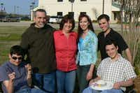 The Dagley family, (from left), Alex, Eric, Lisa, Layci, Adam and Jason enjoys time together on Mother's Day in 2008. Adam and Layci are now parents to a baby girl, Symphony.Eric Dagley - Submitted photo