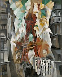 """""""Champs de Mars: The Red Tower"""" (1911/23) by Robert Delaunay, oil on canvas"""