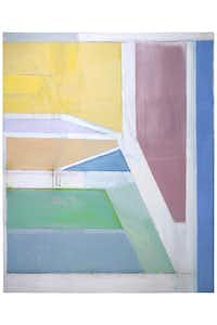 """Richard Diebenkorn """"Ocean Park #27,"""" 1970 oil on canvas 100 x 80 in. (254 x 203.2 cm), Brooklyn Museum, Gift of The Roebling Society and Mr. and Mrs. Charles H. Blatt and Mr. and Mrs. William K. Jacobs, Jr.Estate of Richard Diebenkorn"""