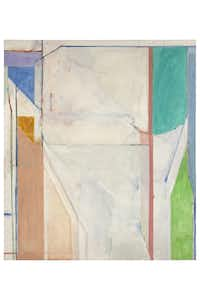 Ocean Park #43, 1971  Oil and charcoal on canvas 93 x 81 in. (236.2 x 205.7 cm) Collection of Gretchen and John Berggruen, San FranciscoEstate of Richard Diebenkorn