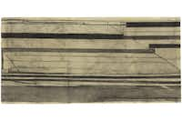 Untitled (Ocean Park), 1986  Charcoal and ink on paper 17 5/8 x 37 1/8 in. (44.7 x 94.2 cm) The Museum of Modern Art, New York, The Denise and Andrew Saul Fund and purchase, 1988Estate of Richard Diebenkorn