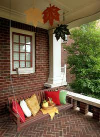 The porch of the home of Pat and Dana Harrigan