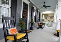 The porch at the home of Glen and Cynthia Goodwin