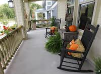 The porch of the home of Troy and Debbie Stephan
