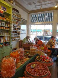Expect barrels of penny candy and creative comfort food at the Jingle Tap Cafe.Robin Soslow -  Robin Soslow