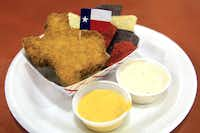 Fernie's Deep Fried King Ranch Casserole was presented at the Big Tex Choice Awards on Monday at Fair Park in Dallas.