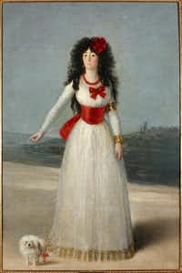 """Francisco de Goya y Lucientes, """"The Duchess of Alba in White,"""" 1795. Oil on canvas.Courtesy  -  House of Alba Collection"""