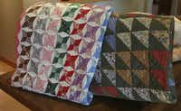 Dallas Attorney Susan Patterson collects quilts as well as vintage handkerchiefs.