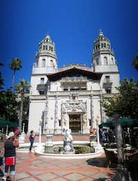 """Hearst Castle, the 165-room estate of newspaper publisher William Randolph Hearst, in San Simeon, Calif. Visitors can tour the estate which he called """"La Cuesta Encantada"""" (""""The Enchanted Hill""""), that overlooks the Pacific Ocean."""