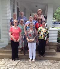 New officers and board members at the Irving Heritage Society's general meeting held June 1.Staff photo by DEBORAH FLECK - DMN