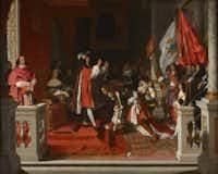 "Jean-Auguste-Dominique Ingres, ""King Philip V Imposing the Golden Fleece onto the Duke of Berwick,"" 1818.Courtesy  -  House of Alba Collection"