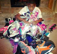 Rowlett resident Jay Fair asked friends and family to donate shoes instead of giving him birthday presents this summer. Fair donated 82 pairs of shoes to the victims of the Moore, Okla. tornado.Christina Fair - Submitted photo