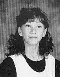 This is a 1996 yearbook photo of Jessica McClure, 11, when she lived in Greenwood, a small community just outside of Midland.